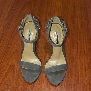BCBG grey high heels.